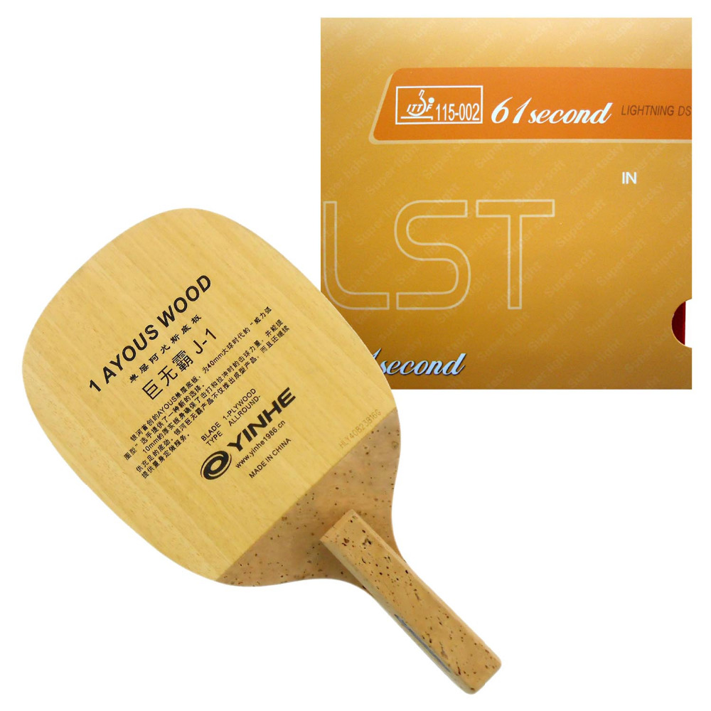 Pro Table Tennis Combo Paddle Racket Galaxy J 1 Japanese Penhold Blade with 61second Lightning DS