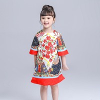2016 New Top Quality Cotton Girl Dress Sofia Princess Dress European And American Style Kid Casual