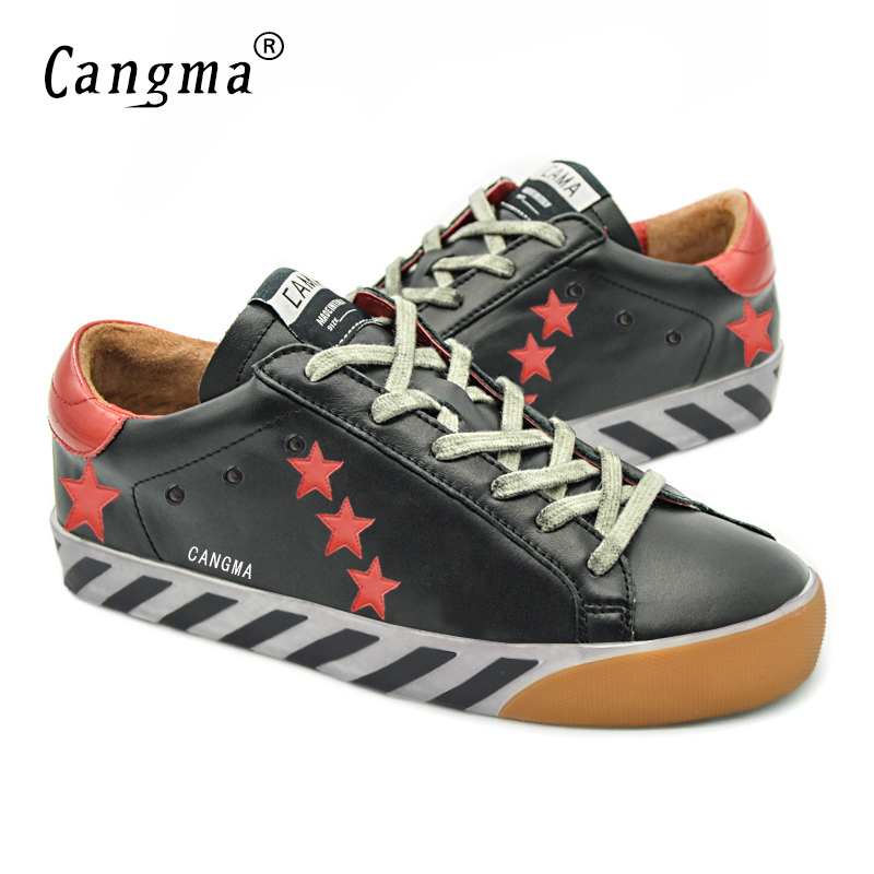 ФОТО CANGMA Fashion Famous Brand Men Shoes Genuine Leather Superstar Mens Platform Casual Black Stella Shoes Zapatos Deportivos Mujer