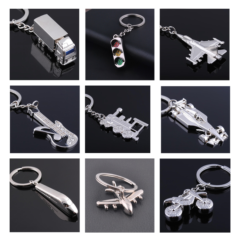 3D World Cup Metal Gift Keychain Motorcycle Aircraft Train Key Ring Jewelry Car Key Chain Game Key Holder Souvenir chaveiro para ...