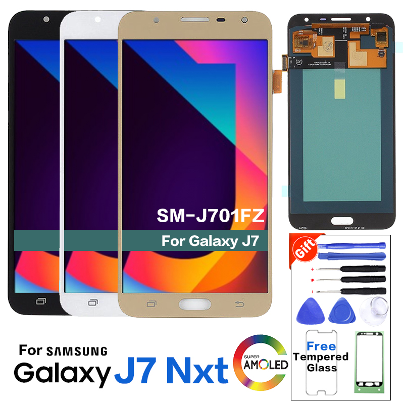 AMOLED LCD For Samsung Galaxy J7 Nxt SM-J701FZ LCD Display Screen Replacements for Samsung SM-J701 J7 Core J701M display moduleAMOLED LCD For Samsung Galaxy J7 Nxt SM-J701FZ LCD Display Screen Replacements for Samsung SM-J701 J7 Core J701M display module