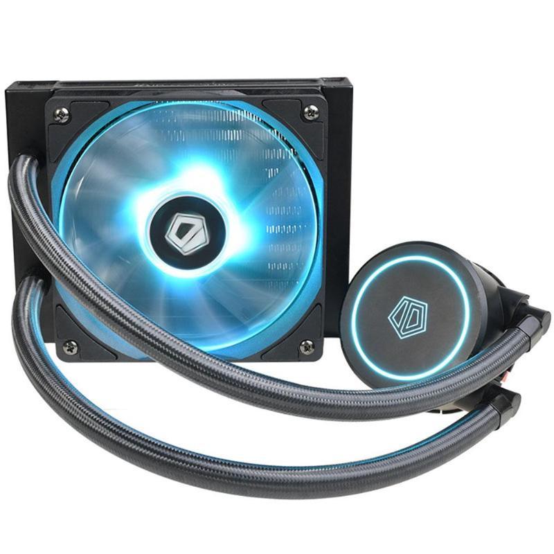 Ventilateur cpu refroidisseur d'eau IDCOOLING AURAFLOW X 120 refroidisseur de liquide pour Intel/AMD w/RGB grande conception de pression d'air plus sûre et silencieuse