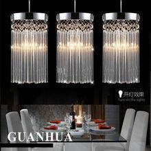 Moda simples moderna do candelabro do brilho LED k9 de cristal pingente luzes lâmpada Restaurante Varanda corredor lâmpada 110 v-260 v tensão luz