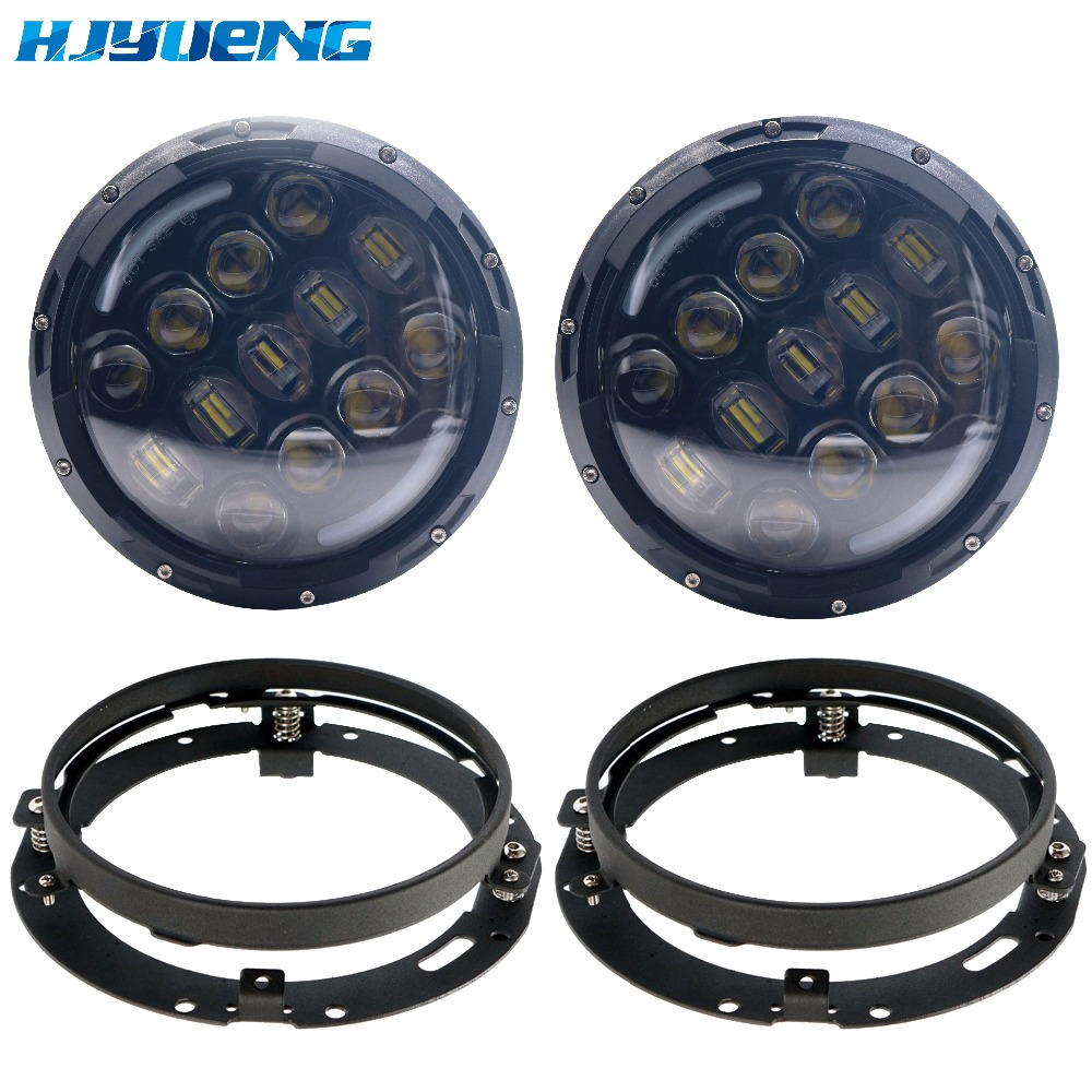 HJYUENG for Jeep Wrangler Jk Tj Harley Davidson Super bright 105W 7 Inch Round LED Headlight with White/ amber Turn Signal DRL lefard кружка elisabeth 500 мл