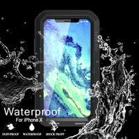 Original Waterproof Shockproof Case For IPhone X Coque 360 Degree Full Protection Aluminum Gorilla Glass Cover