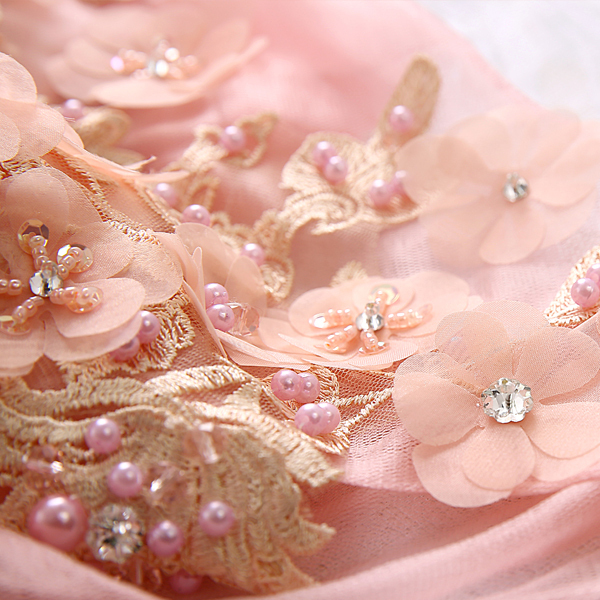 85640834a1 US $118.0 |light salmon pink flower beading veil gown medieval dress  Renaissance cosplay Victoria dress Gothic /Marie Antoinette/Belle ball-in  Game ...