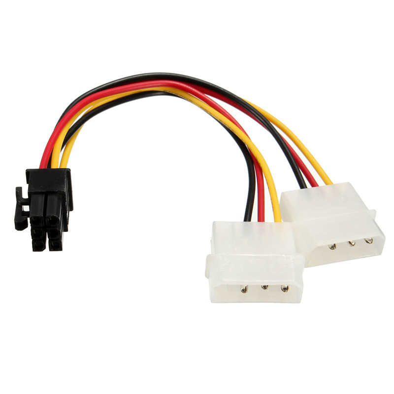 Hot 6Pins to 2x 3Pins 5 25 HDD Power Adaptor Cable Lead PCI E Graphics Card