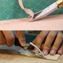 Горячая ручной работы Leathercraft кожи край Beveler резка Skiving отделка DIY кожа ремесленных инструментов TI99