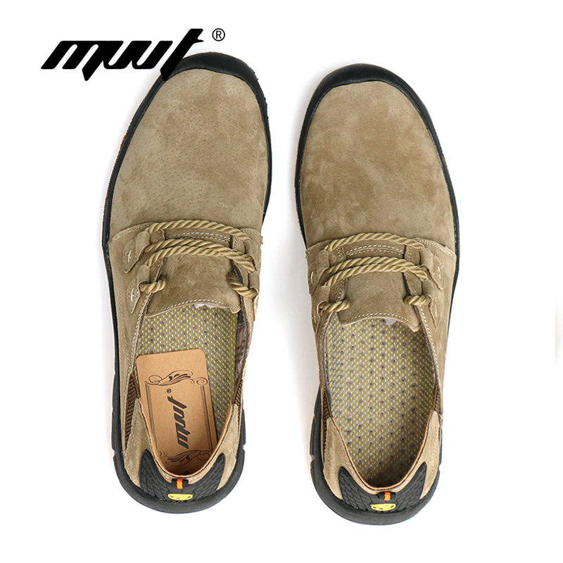 MVVT Comfort casual shoes men flats suede leather men loafers shoes - Men's Shoes - Photo 6