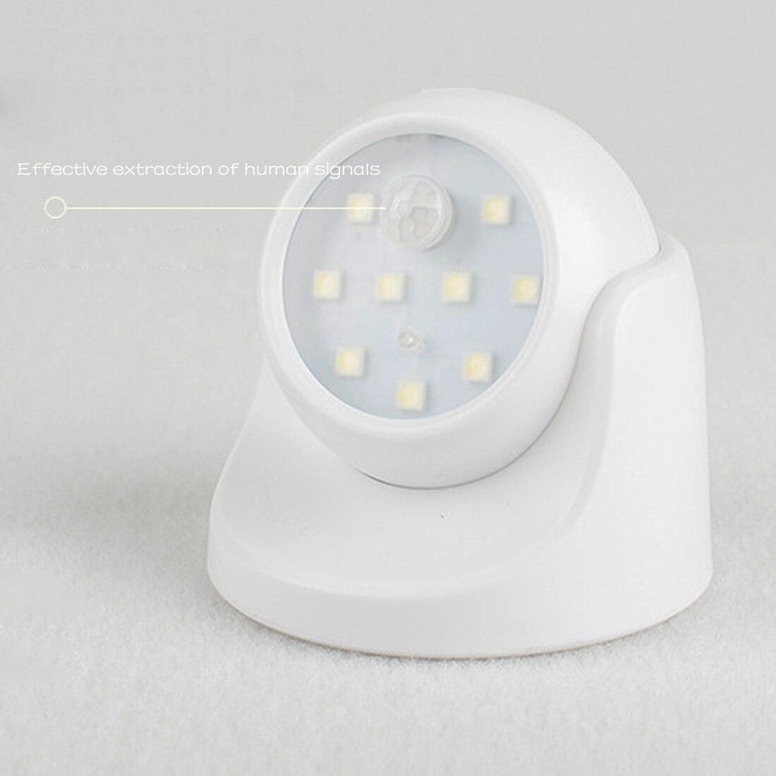 Newest 9 LED Motion Sensor Night Light 360 Degree Rotation Portable Night Light Auto IR Infrared Luminary Lamp Children Lamp LED sn101 mini 360 degree rotation 0 1w yellow light auto sensor night lamp white 2 round pin plug