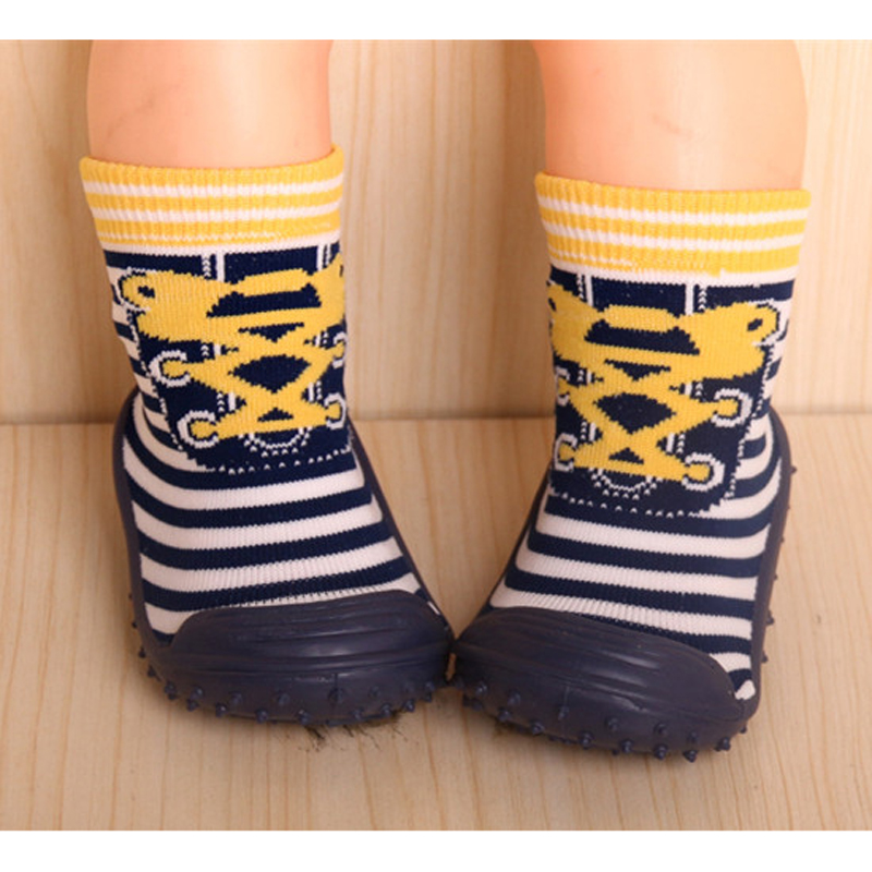 Toddler Shoes Soft Bottom Baby Socks Newborn Baby Boys Girls Baby Socks With Rubber Soles DS9