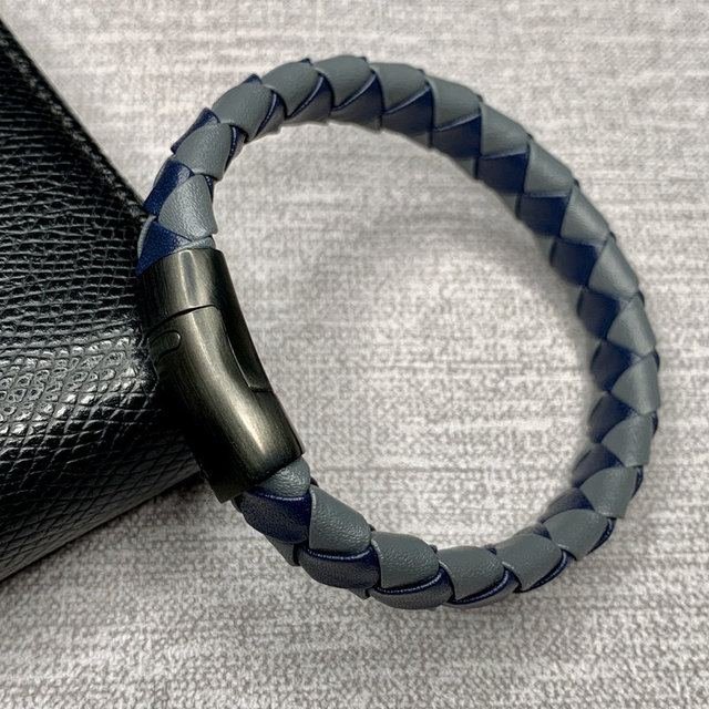 Punk Braid Leather Bracelet...