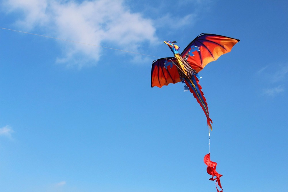 New-High-Quality-Classical-Dragon-Kite-140cm-x-120cm-Single-Line-With-Tail-With-Handle-and-Line-Good-Flying-Kites-From-Hengda-3