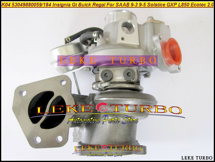 K04 59 184 53049700059 53049880184 Turbo For Opel GT For Buick Regal For SAAB 9-3 9-5 For Pontiac Solstice GXP L850 Ecotec 2.0L turbo service gt1749v 773720 for fiat croma ii opel astra h saab 9 3 ii 1 9 tid