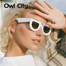 Owl City Vintage Shield Sunglasses Women and Men Brand Desig