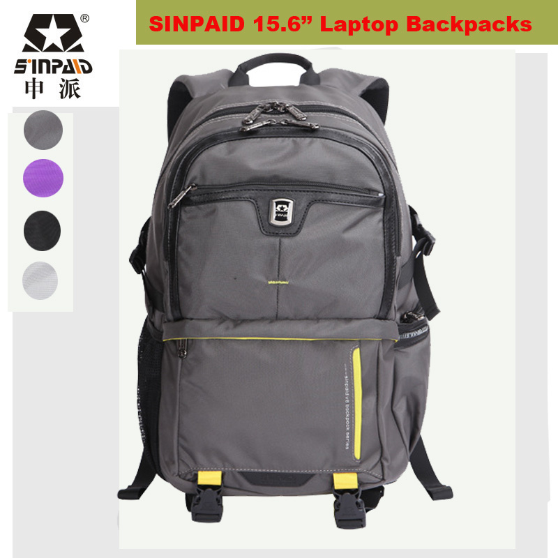ФОТО SINPAID Laptop Backpack 15.6 Inch Large Capacity Multiple Compartment Knapsack For Macbook/ Dell/ Acer/ Lenovo/ Asus/ HP/ Sony