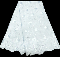 African Swiss Voile Lace High Quality New Arrivals 2017 African White Lace Fabric With Stones For