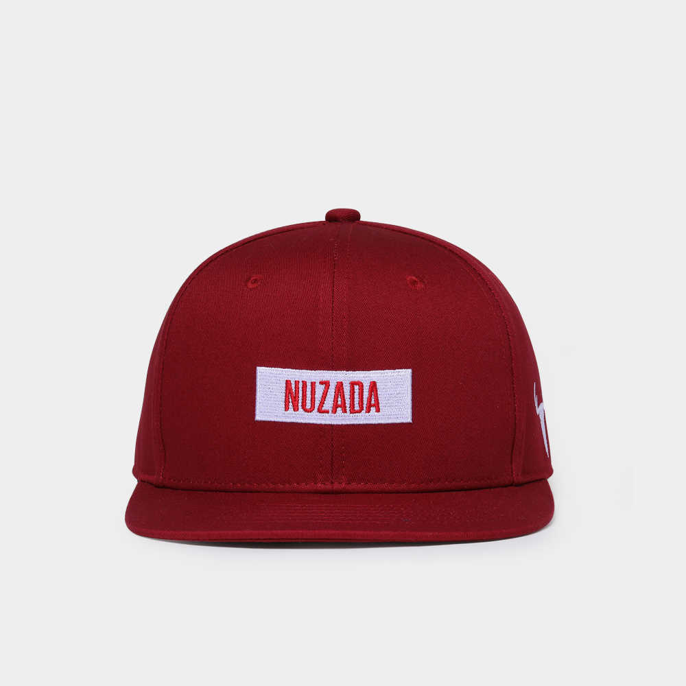 Gorra de algodón NUZADA con LOGO de marca para hombre y mujer, gorra de Hip Hop Vintage, color rojo vino, primavera, verano, Otoño, bordado