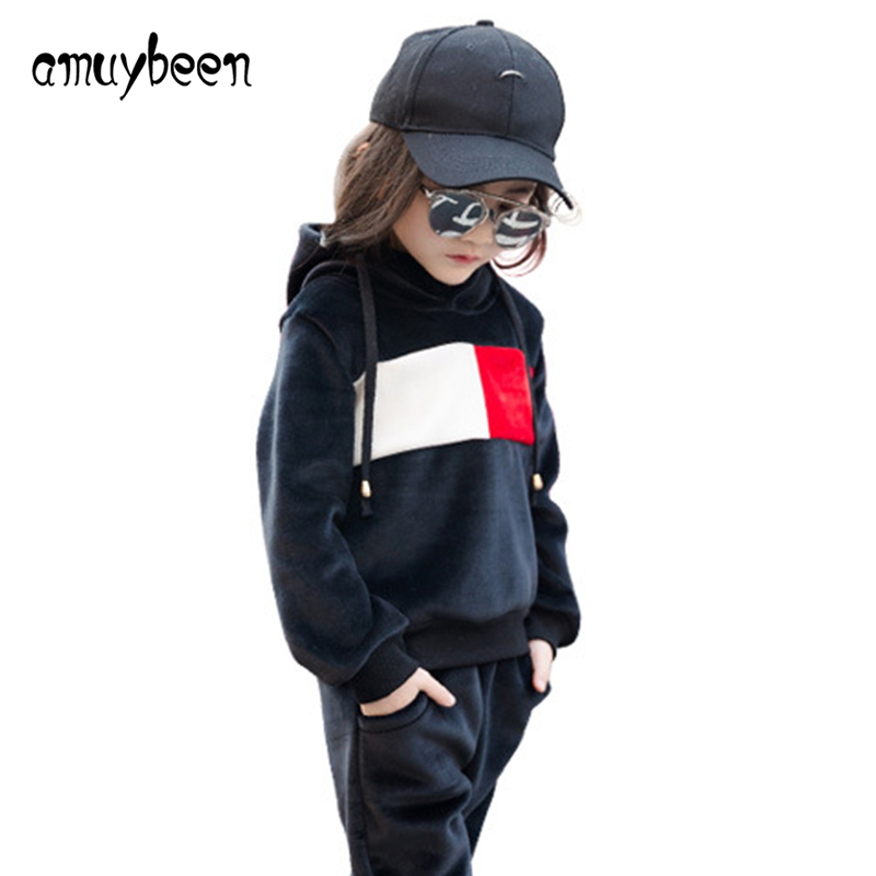 0ff33402f Amuybeen Girls Clothing Sets Sports Girl Clothes Long Sleeve Hoodies ...