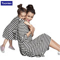 Mother Daughter Dresses Casual Family Matching Outfits Striped Long Sleeve Clothes Family Clothing Mother and Daughter Dress