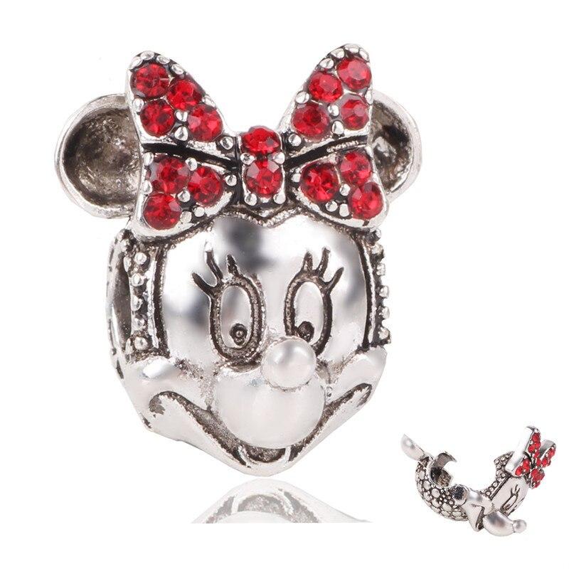 Новинка,,, бусинка из ленты, Микки Маус, сказка, Дамбо, любовь, шарм, подходит для Пандоры, браслет, ожерелье, сделай сам, женское ювелирное изделие, подарок - Цвет: P091