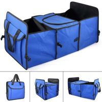 Blue 2 in1 Car Boot Shopping Tidy Heavy Duty Collapsible Storage