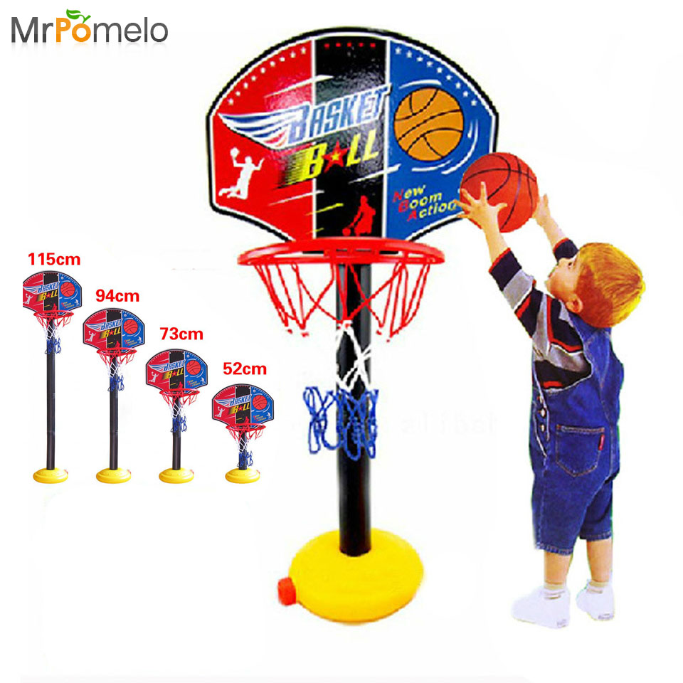 Toys Balls Sports Toddlers Boys : Kids outdoor sports portable basketball toy set with stand
