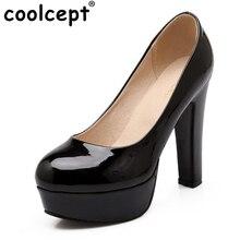 CooLcept Женские туфли на высокой шпильке пикантные женские на платформе весенние туфли Туфли-лодочки с каблуком обувь на каблуке Большие Размер: 31–47 P16738