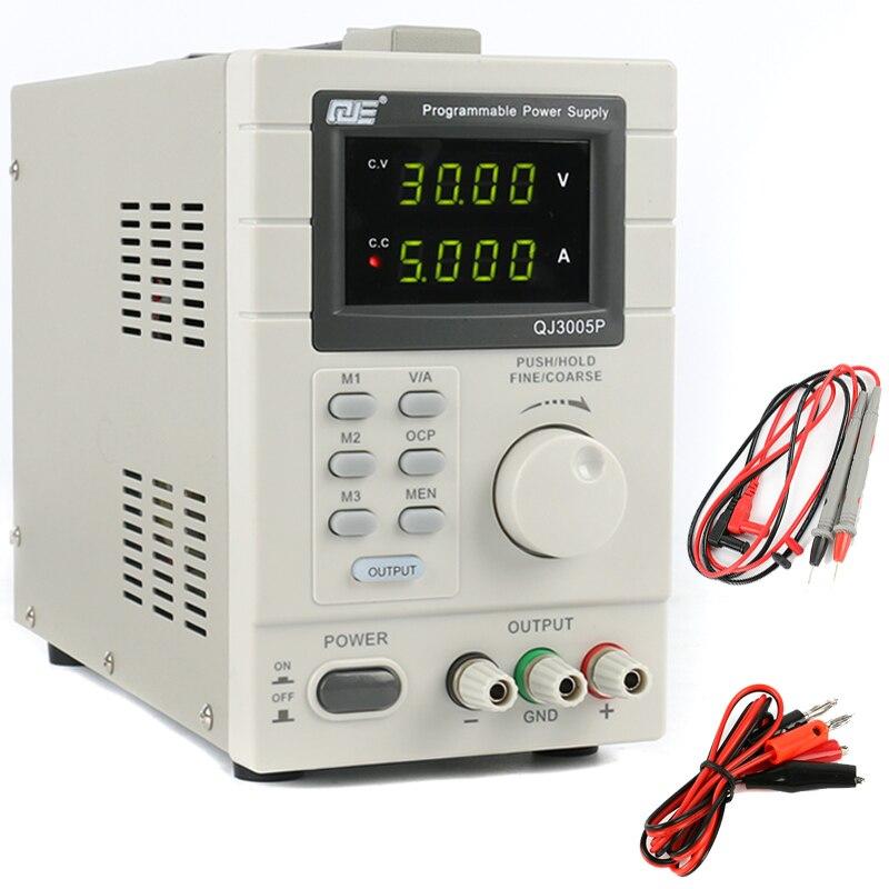 QJ3005P Adjustable Digital Linear Programmable DC Power Supply 30V 5A 0.01V 0.001A USB Remote Control Via PC 220V EU/US/AU Plug cps 6011 60v 11a digital adjustable dc power supply laboratory power supply cps6011