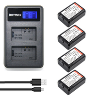 4pc NP FW50 NP FW50 FW50 Battery LCD USB Dual Charger For Sony A37 NEX 5