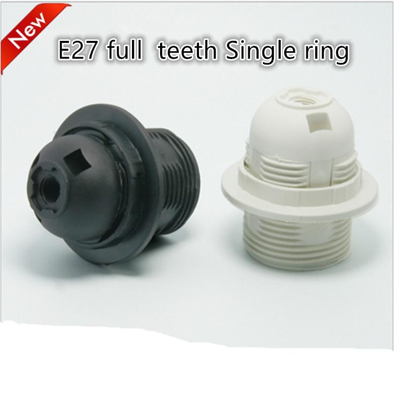 E27 LED Plastic Lamp Holder 10pcs/lot  E27 Edison Screw Light Bulb Socket Holder DIY E27 Socket Base Free Shipping