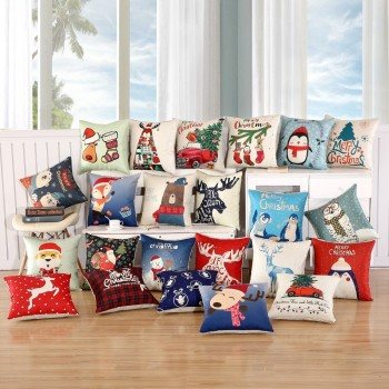 1Pcs 45x45cm Pillow Case Merry Christmas Decorations For Home