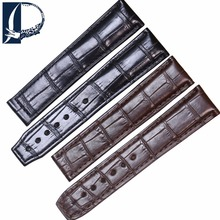 Pesno 20mm 21mm Black Brown Alligator Leather Watch Band Men Watch Accessories for Maurice Lacroix MASTERPIECE Pontos