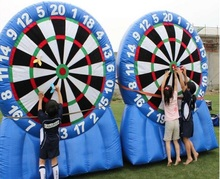 PVC Inflatable Dart Board Stands / Inflatable Foot Darts Board Sports  /Giant Inflatable Dart Board Sports For Adults Used