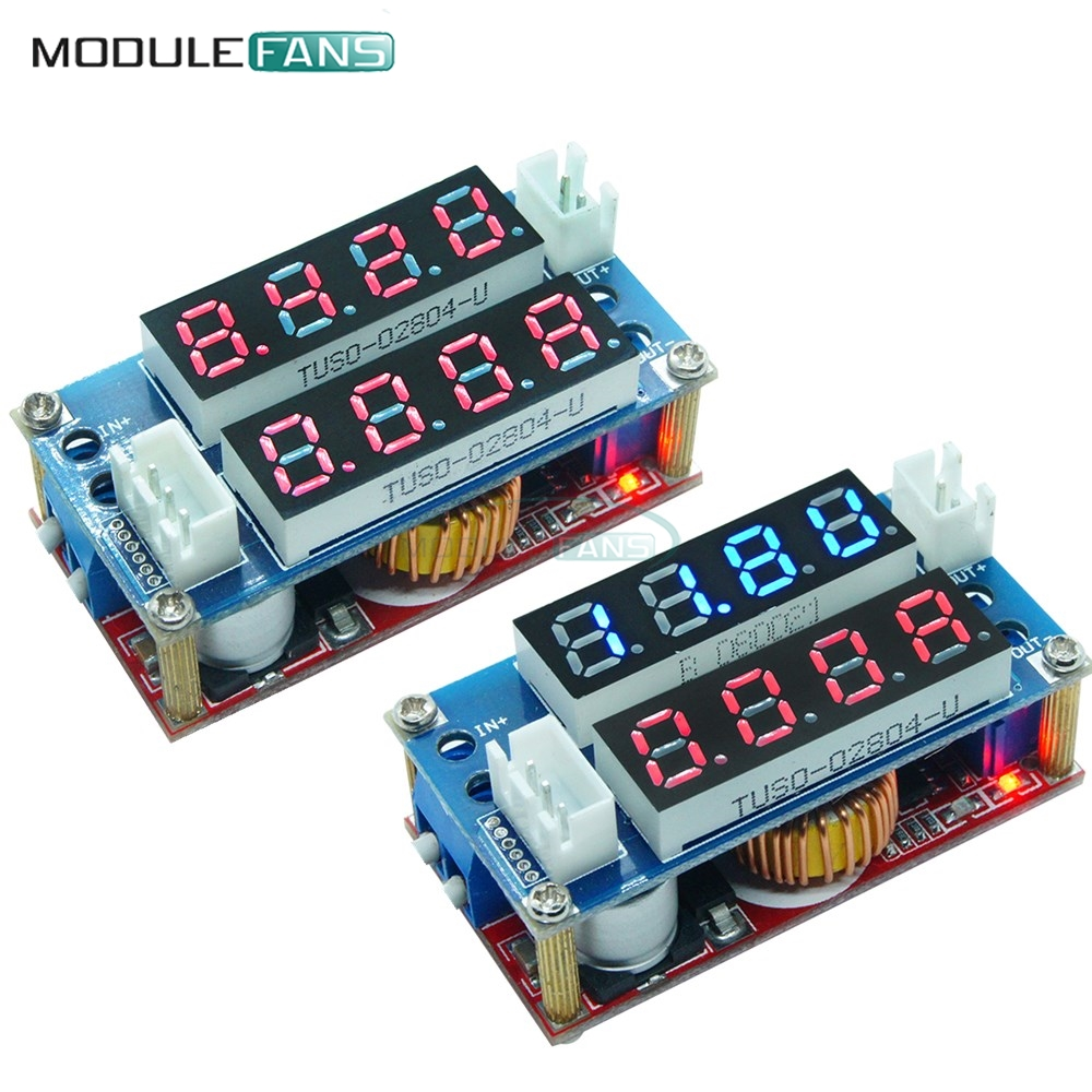 CC CV Red Blue Step Down Max 5A Digital Voltmeter Ammeter Display LED Drive Board for Arduino Adjustable Receiver Charge Module