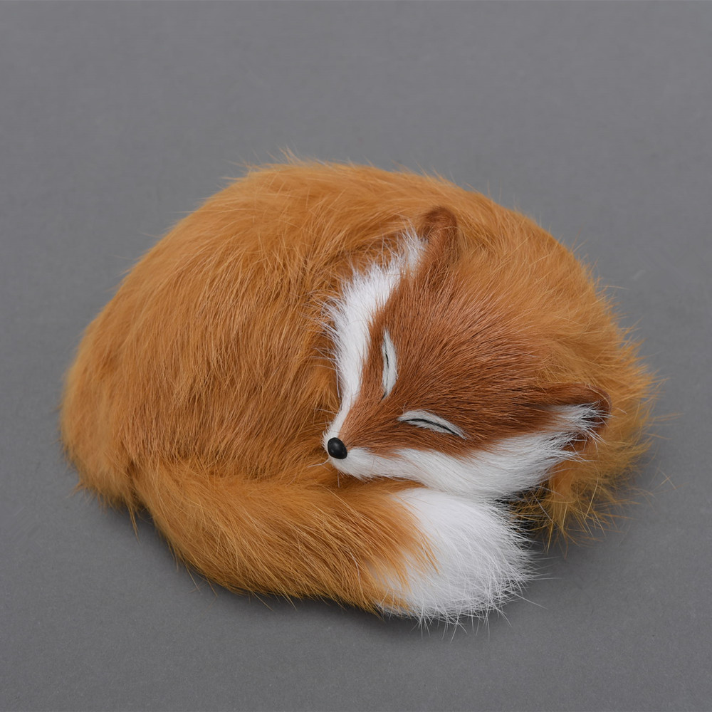 Pretty little cute foxy toy / sleeping fox lovely andadorable/ ideal as home decoration or children gift 14*5cm