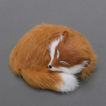 Pretty little cute foxy toy sleeping fox lovely andadorable ideal as home decoration or children gift