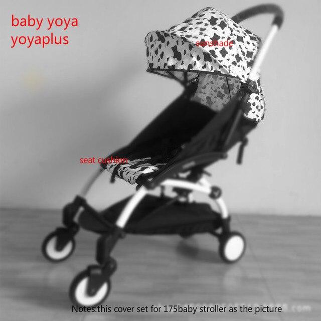 2018 חדש 30 סגנונות!! BABYYOYA 175 תואר שמש כיסוי מושב כרית סט יויה yoyo תינוק עגלת אביזרי צל לשפוך וכרית