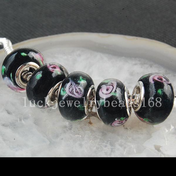 5e084f6d0d7d Envío Gratis joyería moda mujer 5 unids plata y cristal murano lampwork  ajuste encanto pulsera Europea C3385