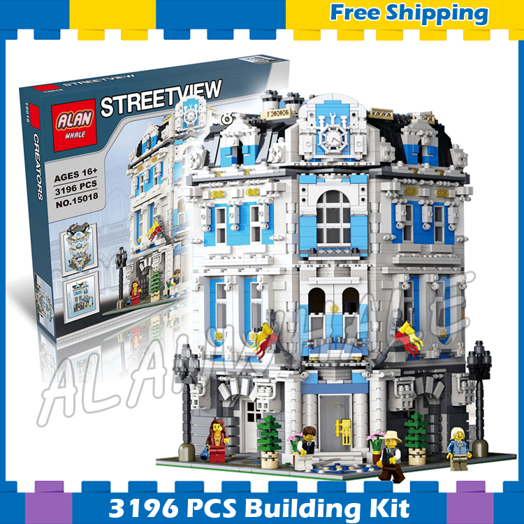3196pcs 15018 Creator Expert Sunshine Hotel Modular Building series Kit Model Blocks Sets Office structure Compatible With lego lepin 15018 3196pcs creator city series sunshine hotel model building kits brick toy compatible christmas gifts