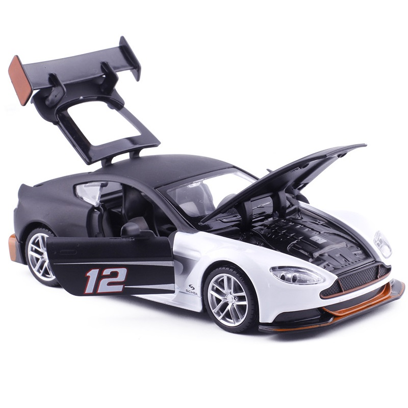 1/32 SPORT CAR Diecasts Series 15CM Racing W/Light & Music 3-4 Openable Doors Nice Painting Pull Back Power
