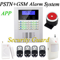 Free shipping new Hot sales Wireless home security alarm system for new 4pcs remote control White PSTN& GSM alarm system 433MHz