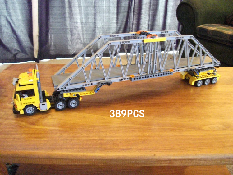 Classic city Engineering vehicle Heavy truck loader building block model bricks 7900 worker figures toys collection for kids