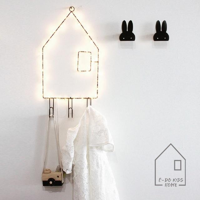 40led Casa Creativa en Forma de Suspensión de Alambre de Cobre LED Cadena Hada Luz de Navidad Para Niños Sala de Decoración Lámparas 3 * AA Funciona Con Pilas