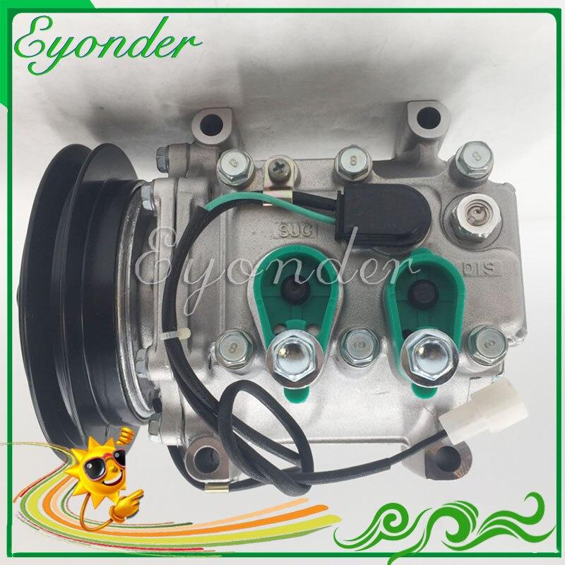 Compresor de aire acondicionado CA A/C MSC90TA PV1 para MITSUBISHI FUSO CANTER ROSA BUS de camión FE FG 4D34 3.9L 1999 MK532512 MK474962