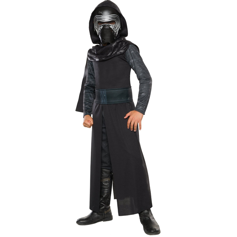 New Arrival Boys Deluxe Star Wars Kraften Awakens Kylo Ren Classic Cosplay Kläder Kids Halloween Movie Costume
