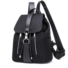 Women Backpack School Bags For Teenager Girls Nylon Zipper L