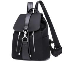 vodiu Women School Bags For Teenager Girls Nylon Zipper c0c8ed2382ff2