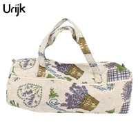 Urijk Linen Knitting Needles Storage Bags For Crafts Sewing Tools Sundries Fabric Dustproof Storage Organizer Bags For Home