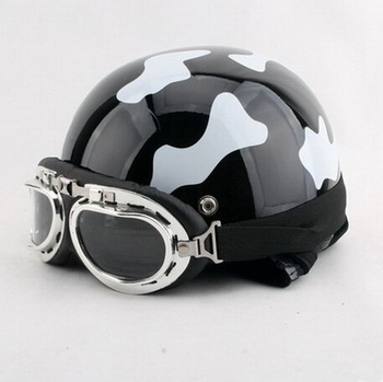 New Summer motorcycle helmet half face electric bicycle motorbike helmets with scarf and goggles of ABS FREE SIZE
